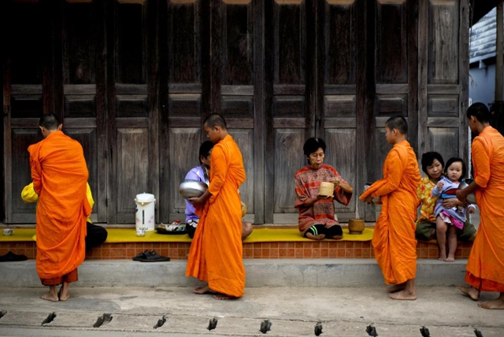 Young monks in Tak Bart ChiangKhan, Loei