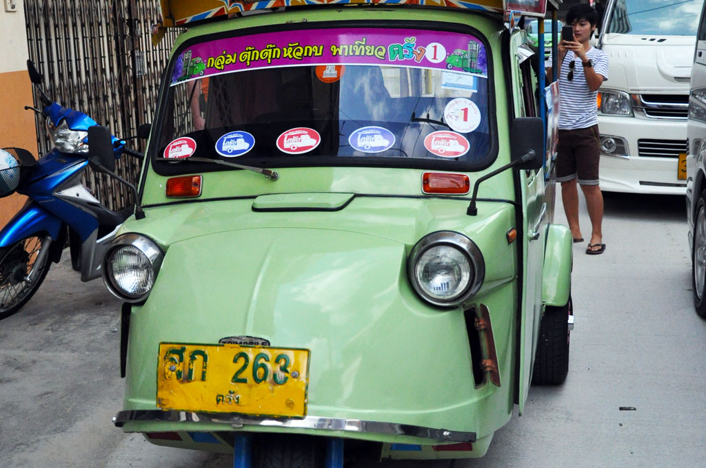 Tuk Tuk getting around in Trang