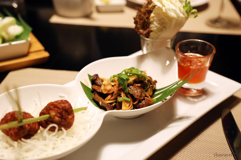 Thai tasting plate, Movenpick Resort, Karon Beach, Phuket, Thailand.