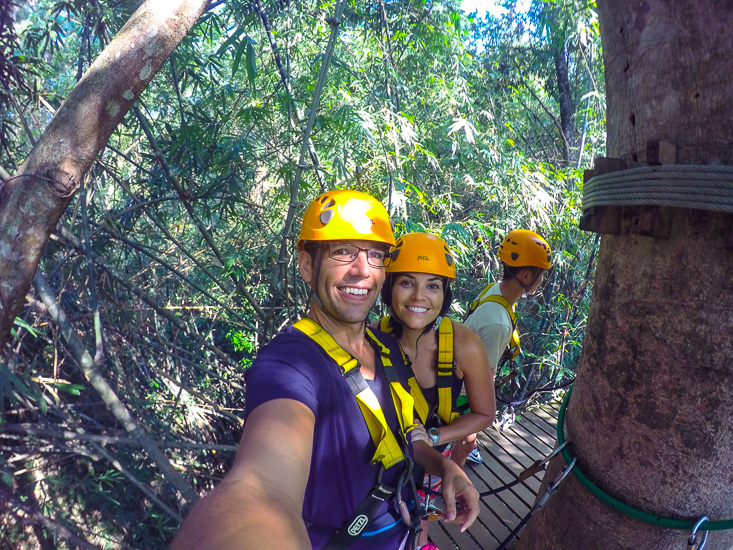 Skye and Drew set off on the Flying Gibbon, Chiang Mai