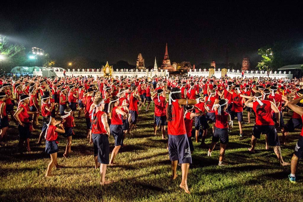 The Wai Kru Muay Thai ceremony crowd 2