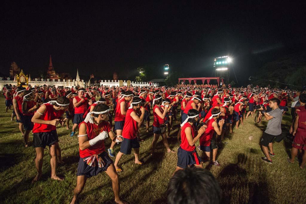 The Wai Kru Muay Thai ceremony crowd