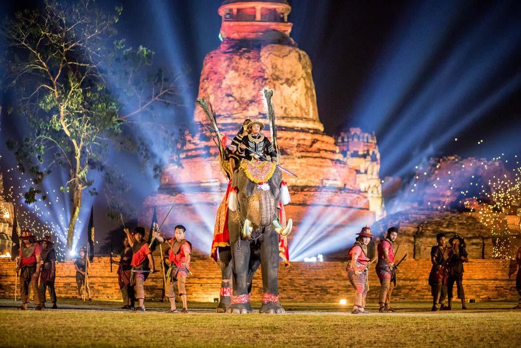 The Wai Kru Muay Thai ceremony elephants