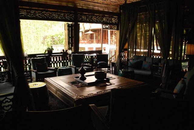 Interior of the original teak house,137 Pillars House, Chiang Mai
