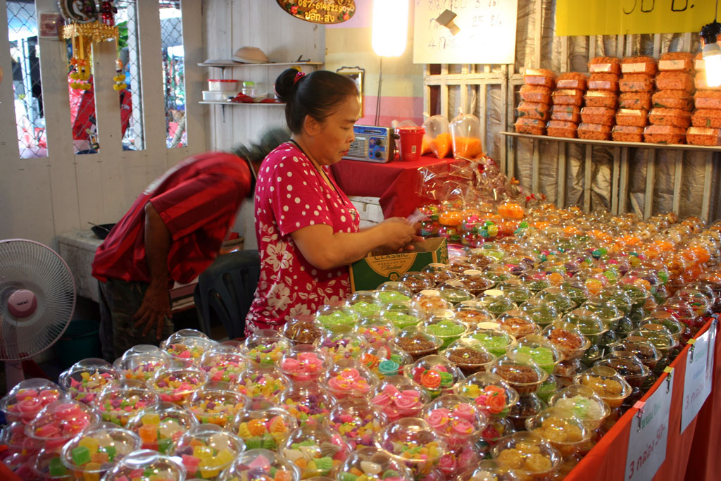 Selling sweets in Koh Kret