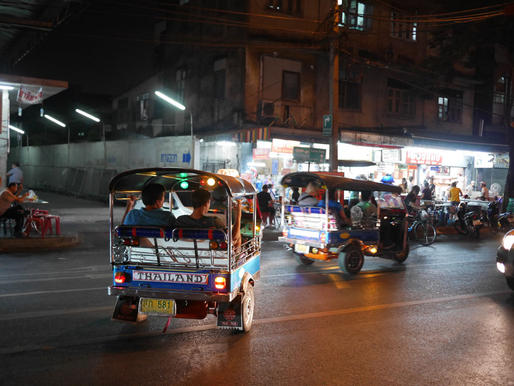 Midnight tuk tuks Bangkok