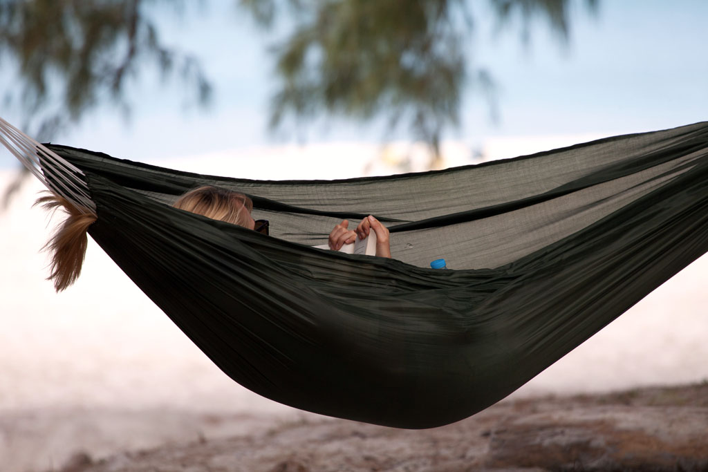 Hammock reading, Ao Pante Malaka Bay, Tarutao national Park
