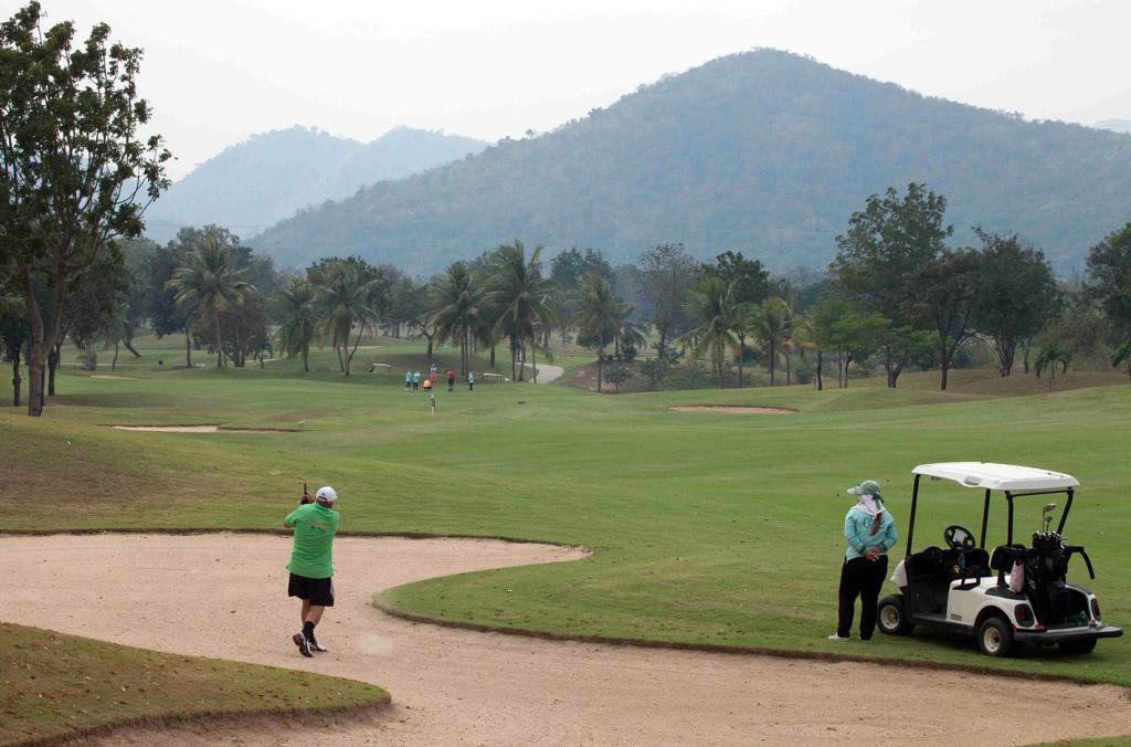 Golf course with mountains, Hua Hin