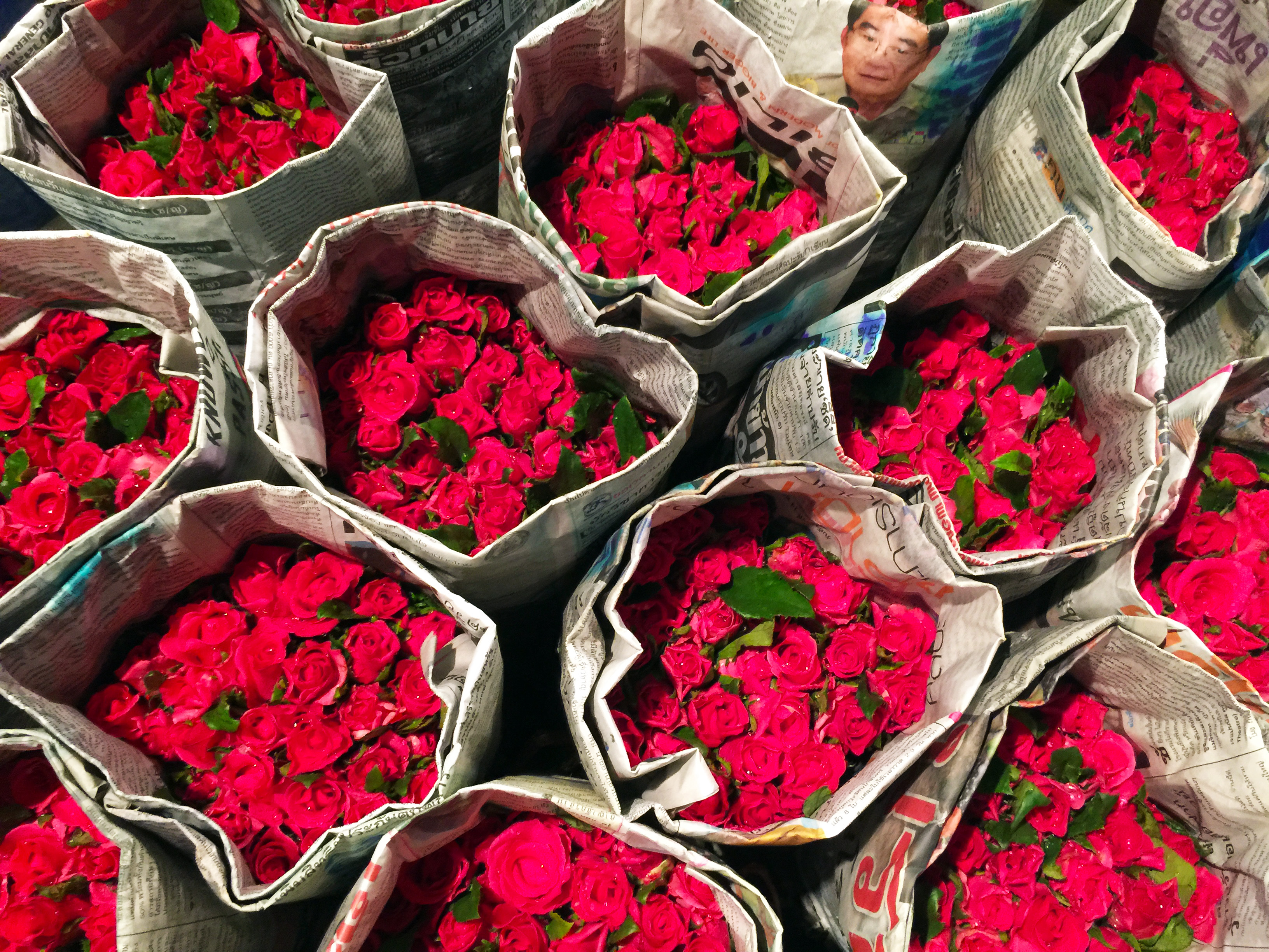 Bangkok Flower Market roses