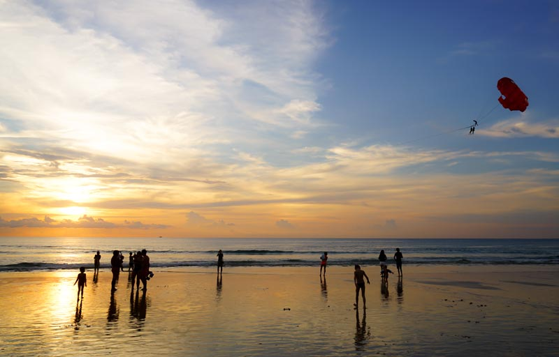 Phuket With Kids-KaronBeach-Sunset-Parachute-JetSki