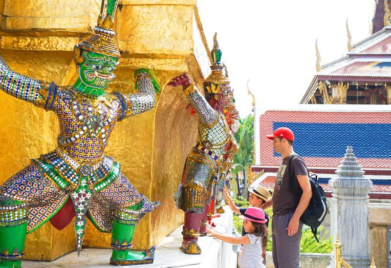 Bangkok-with-Kids-Grand Palace-Statues