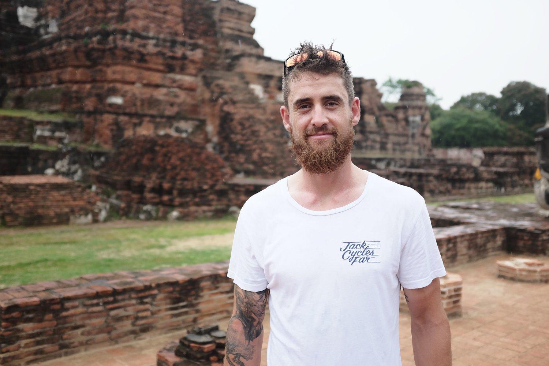 Endurance cyclist Jack Thompson in Thailand