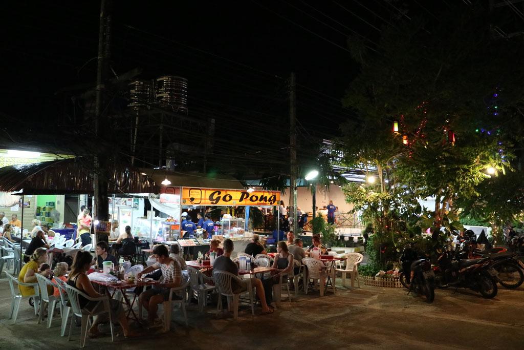 Restaurant scene in Khao Lak