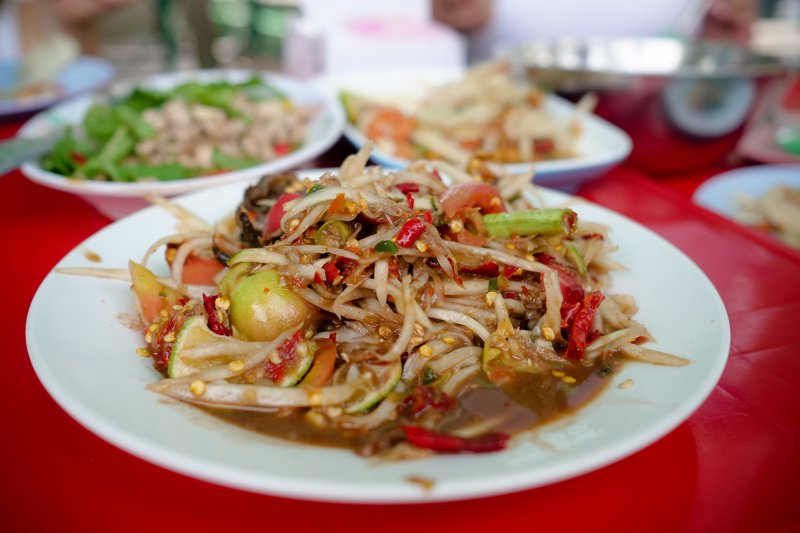 Mark Weins Best Thai Restaurants Bangkok Som Tam stall food-tour-1-20-X3