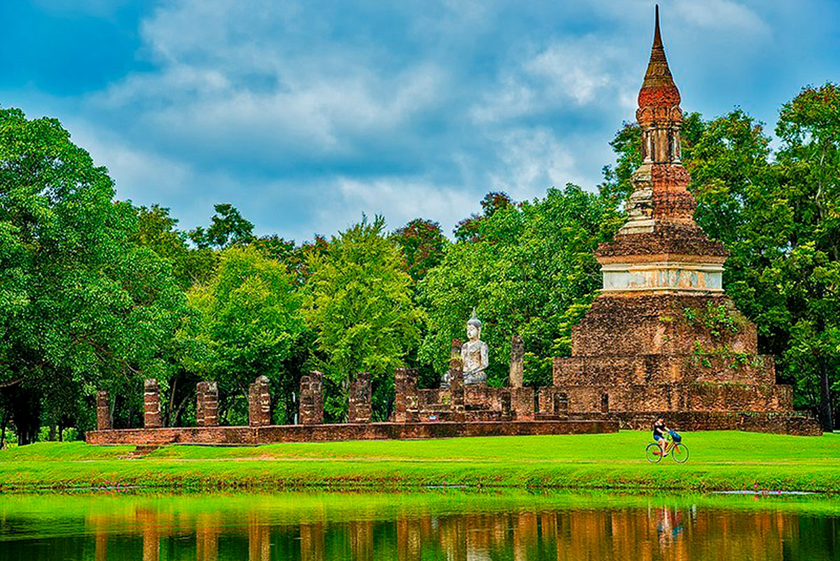 Tra Phang Ngoen Temple is Located in Sukhothai Historial Park, Sukhothai