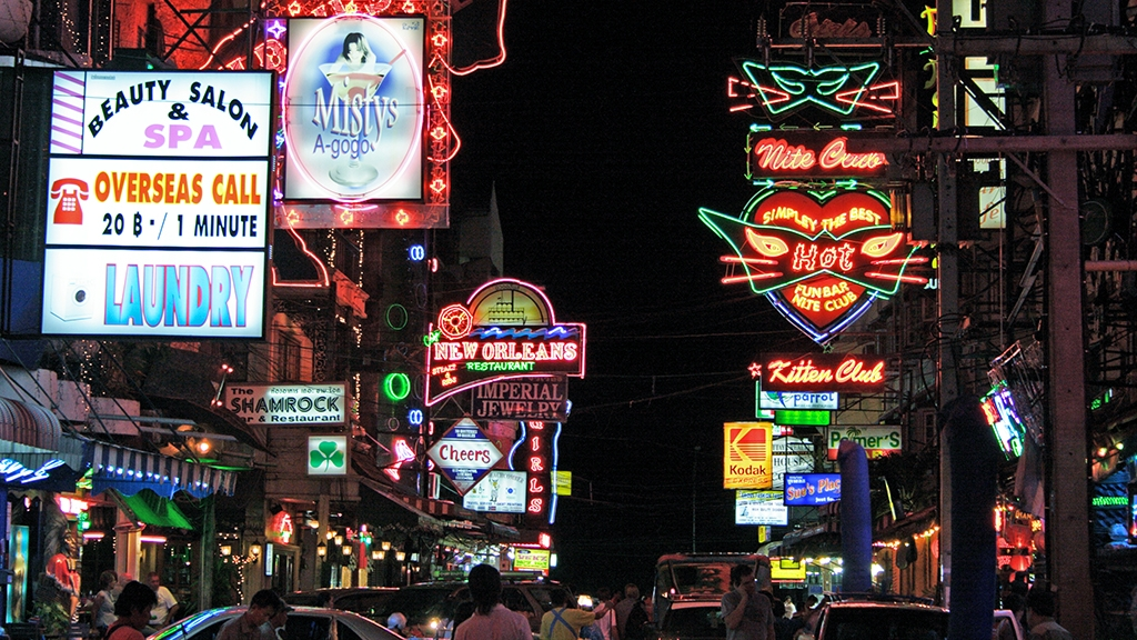 Neon nights, Pattaya, Thailand Copyright John Borthwick