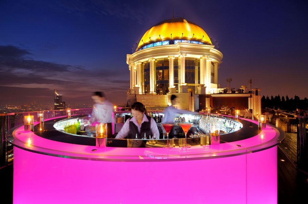 Bangkok-Best-rooftop-Bars-Sky-Bar-by-Lebua-pink-bar-with-city-skyline-view