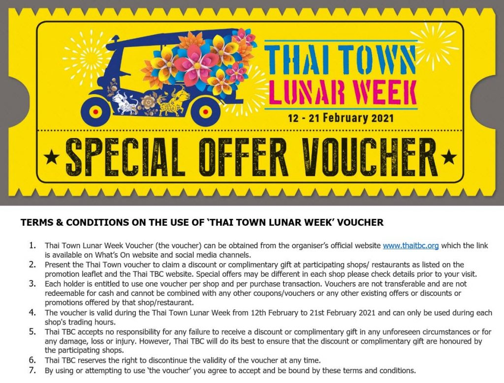 Thai Town Lunar Week Voucher